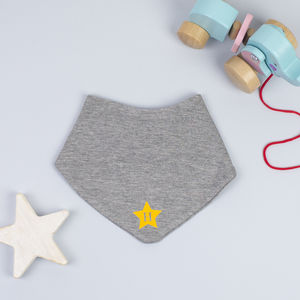 Personalised Star Initial Bandana Bib - new gifts for babies