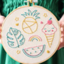Beginner Fruit And Ice Cream Embroidery Kit