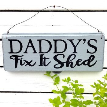 Personalised Wire Strung Shed Sign