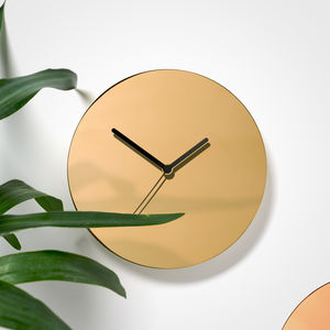 Metallic Brass Wall Clock