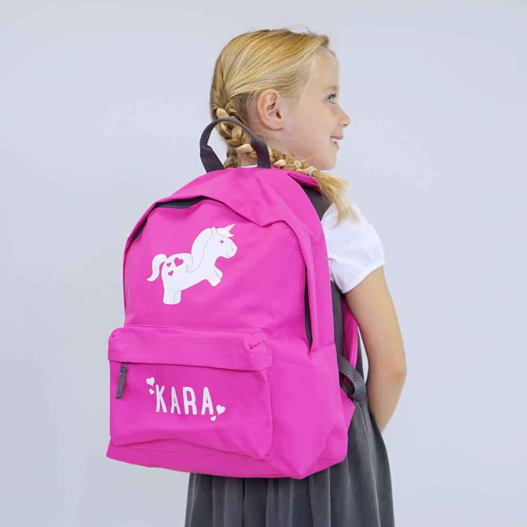 Personalised Unicorn Children's School Backpack