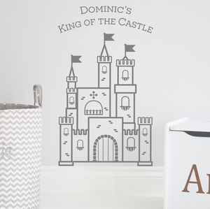 Personalised Castle Wall Sticker