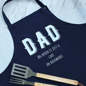Dad Superhero Cape Apron - cooking with dad