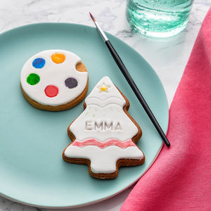 Paint Your Own Christmas Tree Biscuit - biscuits and cookies