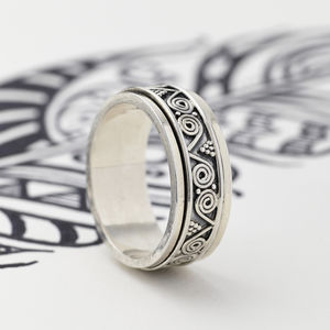 Men's Aztec Spinning Ring