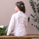 Personalised Botanical Flower Girl Dressing Gown