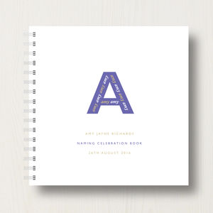 Personalised Naming, Christening Or Baptism Book - naming day celebration gifts