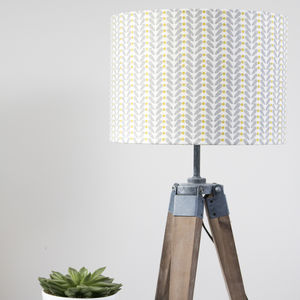 Scandinavian Design Linen Lampshade - lighting