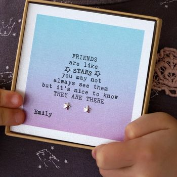 Design Your Own 'Friends Are Stars' Jewellery Gift Box
