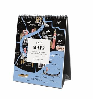 Maps Travel 2017 Desk Calendar