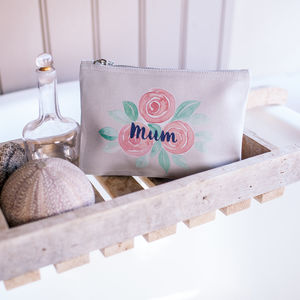 Personalised Rose Flower Pouch