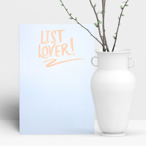 List Lover Plain Notepad - writing