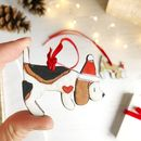 Beagle Christmas Ornament Choice Of Designs