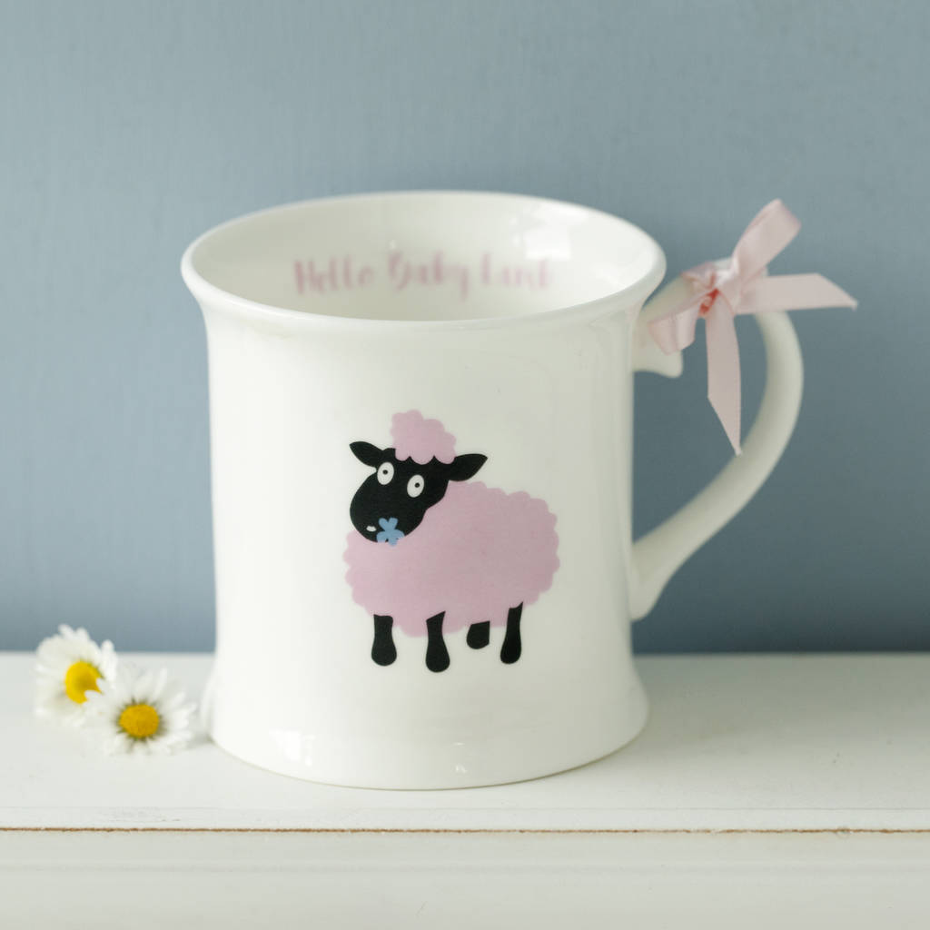 Bold pink lamb one handles mug. Personalised Baby Lamb Plate And Cup Bone China Set & personalised baby lamb plate and cup bone china set by china betty ...