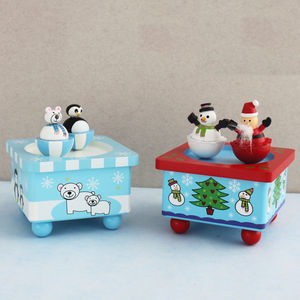 Christmas Wind Up Music Box