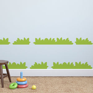 Re Postionable Grass Wall Stickers - decorative accessories