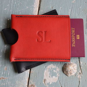 Personalised Passport Holder Made In Italian Leather