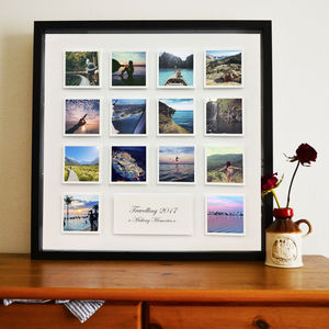Personalised Block Photo And Message 3D Framed Print - posters & prints