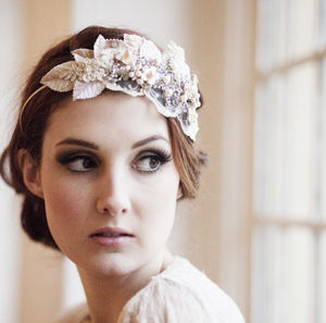 Vintage Milliner's Bridal Headpiece - bridal hairpieces