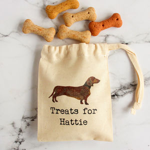 Personalised Mini Bags Of Dog Treats