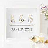 Personalised Initial Framed Print - prints & art