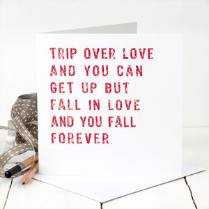 Love Card; 'Trip Over Love' - love & romance cards