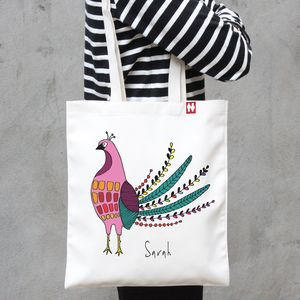 Personalised 'Bird' Tote Bag - shopper bags