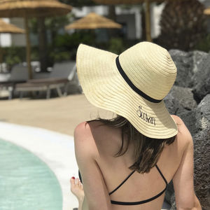 Personalised Summer Straw Hat - hats, scarves & gloves