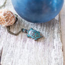 Sea Turtle Pendant Patina Necklace