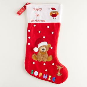 1st Christmas Stocking - stockings & sacks