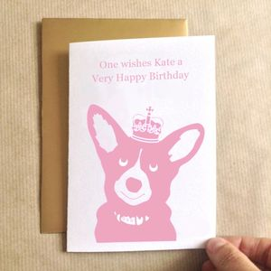 Birthday Corgi Birthday Card
