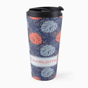 Tropical Leaf Personalised Travel Mug