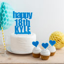 Personalised Bold Birthday Name And Age Cake Topper Set
