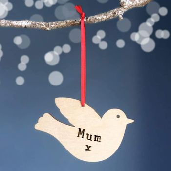 Personalised Christmas Dove Decoration