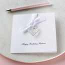Personalised Wire Heart Birthday Card