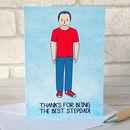 Best Stepdad Portrait Card