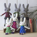 Knitted Lambswool Mini Bunny's