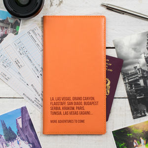 World Destinations Personalised Travel Document Holder