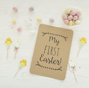 My First Easter Photo Card