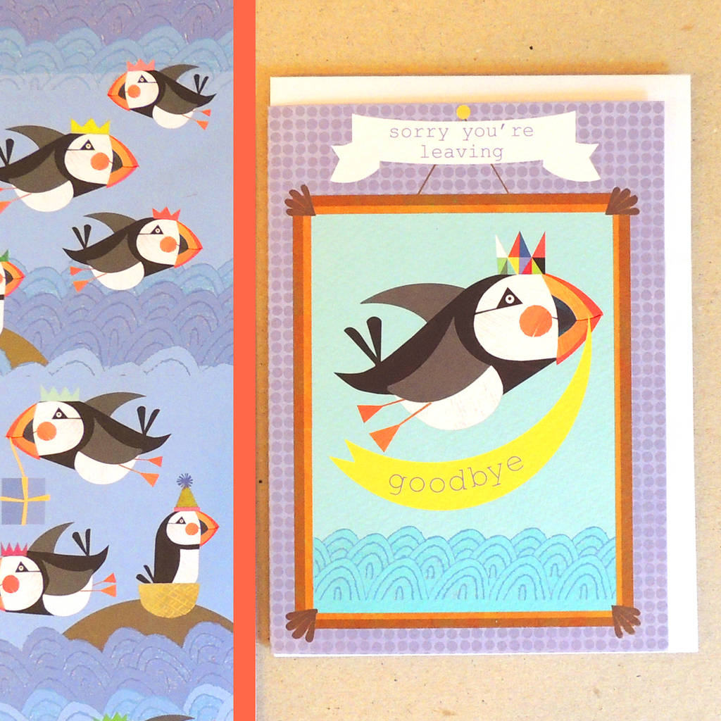Puffin Leaving Card
