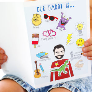 Father's Day Personalised Stickers Card - best father's day cards