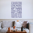 Personalised Wall Sticker 'My Favourite Things'