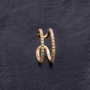 'Zoe' 18k Gold Diamond Ring - rings