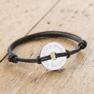 Personalised Open Disc Bracelet - make it personal