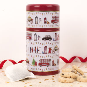 Have A Happy Christmas Tin Of Tea And Biscuits - biscuits and cookies