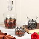 René Art Deco Style Carafe And Whiskey Glass Set
