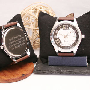 Engraved Wrist Watch Modern Face Design - watches