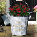Personalised Large Zinc Garden Planter Bucket