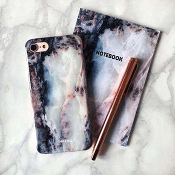 Pearl Marble iPhone Case And Notebook