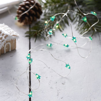 Festive Mini Tree Shaped String Lights Christmas